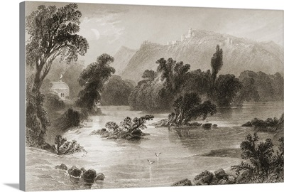 The Meeting Of The Waters, Vale Of Ovoca, Ireland. By J.C.Bentley. C.1841