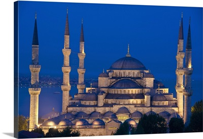 The Sultanahmet Or Blue Mosque At Dusk; Turkey