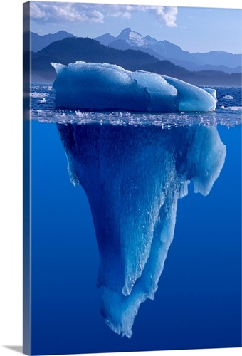 Tip Of The Iceberg Digital Composite Wall Art Canvas