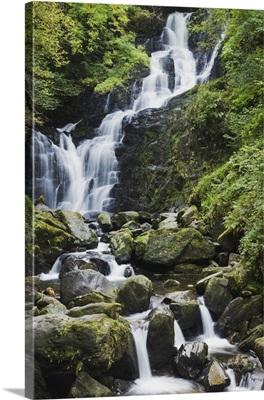 Torc Waterfall On Torc Mountain, Killarney, County Kerry, Ireland