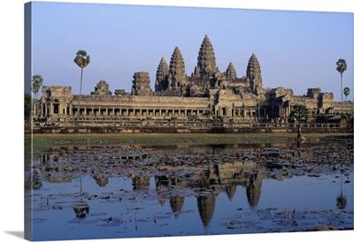 Towers Of Angkor Wat And Lake