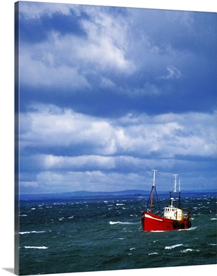 Trawler Going To Harbour, Skerries, County Dublin, Ireland
