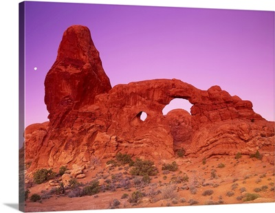 Turret Arch At Dawn Arches National Park Utah