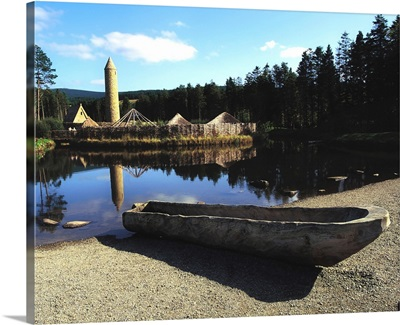 Ulster History Park, Co Tyrone, Ireland; Round Tower And Crannog