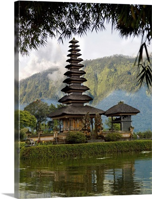 Ulun Danu Temple On Beratan Lake, Bali, Indonesia