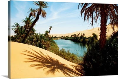 Umm Al-Maa Lake, Ubari Sand Sea, Libya