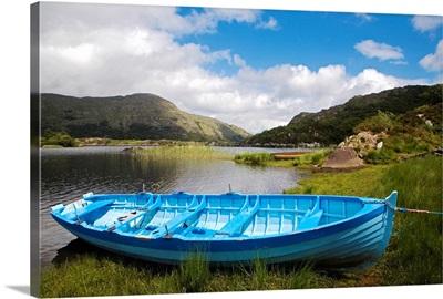 Upper Lake, Killarney National Park, County Kerry, Ireland; Boat On Shore