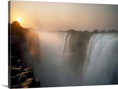 Victoria Falls At Dusk; Zimbabwe