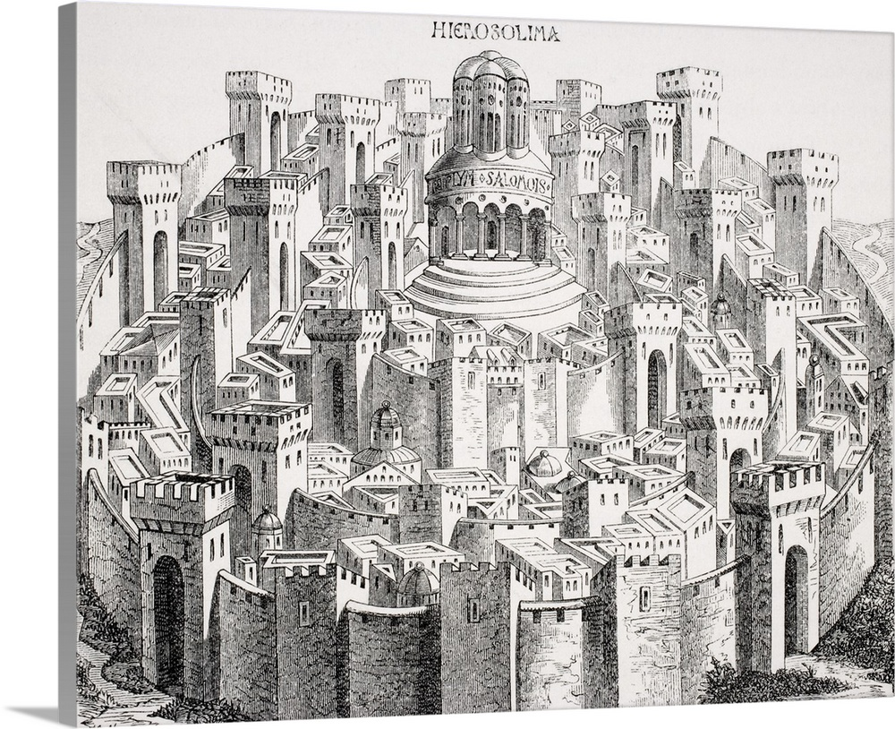 "Poster Print /""Jerusalem and the Temple of Herod in Our Lord/'s Time/"""