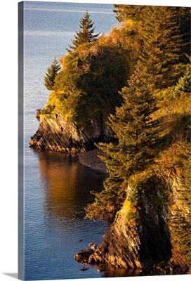 View of Chiniak Bay, Kodiak Island, Southwest Alaska, Fall
