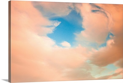 View of clouds at sunset, Alaska