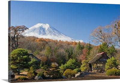 View Of Mount Fuji From A Japanese Garden; Yamanashi, Japan