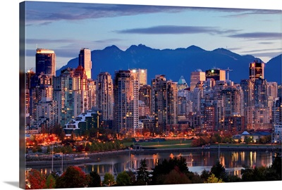 View Of Skyline With Yaletown, Vancouver, British Columbia, Canada