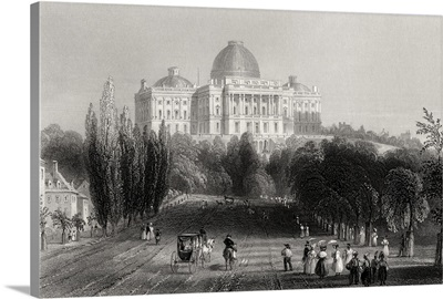 View Of The Capitol Building At Washington, USA