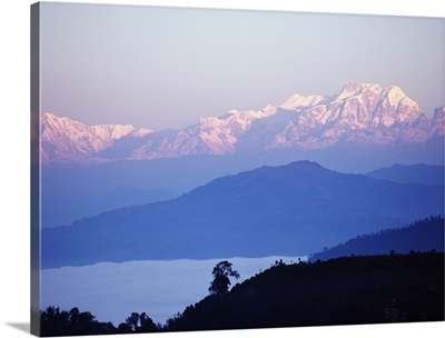 View Of The Himalayas In Gorkha Region; Nepal