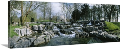 Water Flowing In A Garden, St. Fiachra's Garden, Republic Of Ireland