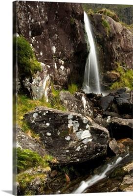 Waterfall at Connor Pass, Dingle Peninsula, County Kerry, Ireland