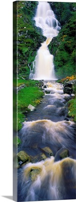 Waterfall in Ardara, County Donegal, Ireland