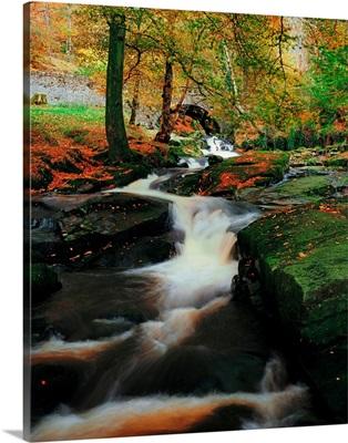 Waterfalll Near Sally Gap, County Wicklow, Ireland