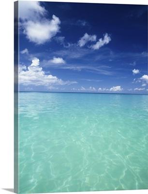 Waters Off The West Coast Of Barbados, Beach Water Ocean Horizon