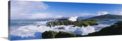 Waves Breaking Over Rocks, West Cork, County Cork, Republic Of Ireland