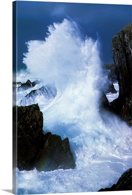 Waves Crashing On Rocks, Ireland