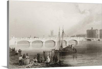 Wellesley Bridge, Limerick, Ireland. C.1841