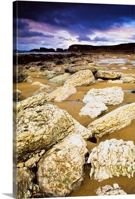 White Park Bay, County Antrim, Ireland; Boulders Along The Beach