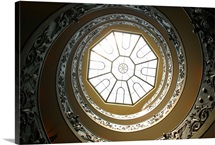 Winding Staircase, Vatican Museums, Vatican City, Rome, Italy