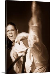 Woman Performing Martial Arts