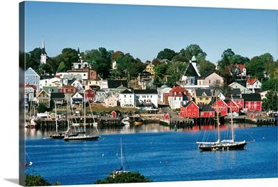 World Hertitage Designated Town On South Shore, Lunenburg, Nova Scotia