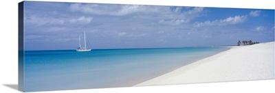 Yacht Moored Off Palm Beach, Barbuda
