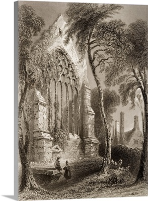 Youghall Abbey, County Cork, Ireland. Residence Of Sir Walter Raleigh. C.1841