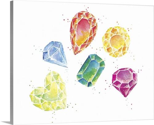 Gemstones Wall Art Canvas Prints Framed Prints Wall Peels Great Big Canvas