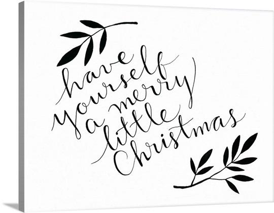 Merry Little Christmas Wall Art, Canvas Prints, Framed