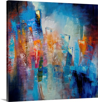 Ici Et Maintenant (Composition In Blue And Orange II)