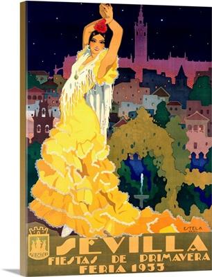 1933 Sevilla Fiesta Vintage Advertising Poster