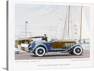1936 Duesenberg Roadster Vintage Print