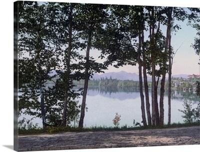 A Glimpse of Mirror Lake Adirondack Mountains