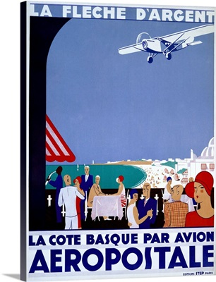 Aeropostale, La Fleche DArgent, Vintage Poster