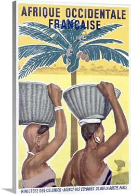 Africa, Afrique Occidentale Francaise, Vintage Poster