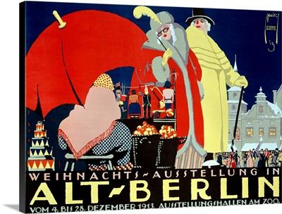 Alt Berlin, Vintage Poster, by Ernst Deutsch
