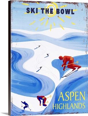 Aspen Highlands Vintage Advertising Poster