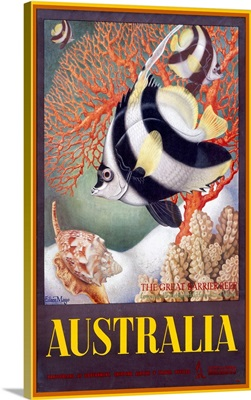 Australia Great Barrier Reef, Vintage Poster, by Eileen Mayo
