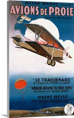 Avions de Proie, Comedie Dramatique, Vintage Poster