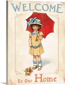 Bessie Pease Little Girl and Umbrella