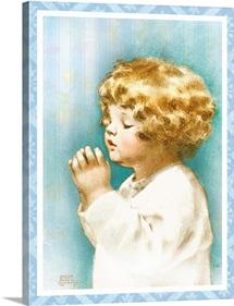 Bessie Pease Little Girl Praying