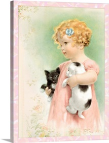 Bessie Pease Little Girl with Cats