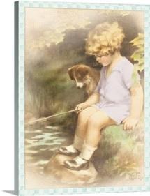 Bessie Pease Little Girl wtih Dog
