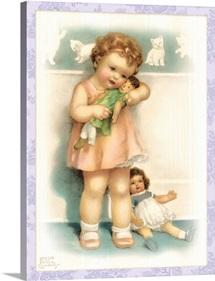 Bessie Pease with Dolls